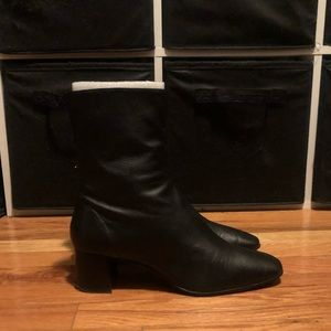 Zara Black ankle boots size 39/8.5